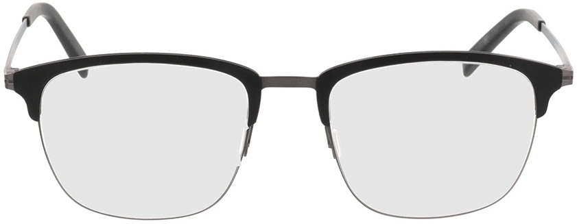 Picture of glasses model Milos Zwart/antraciet in angle 0