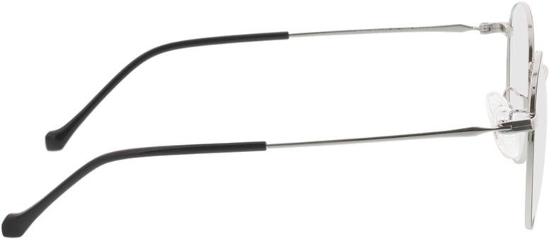 Picture of glasses model Charlottenburg-schwarz/silber in angle 90