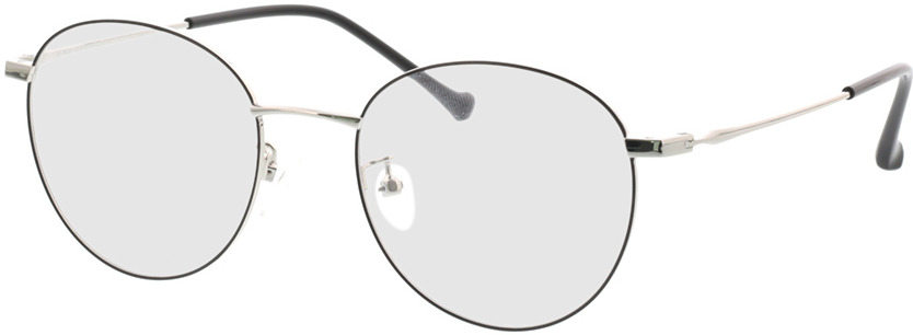 Picture of glasses model Charlottenburg-schwarz/silber in angle 330