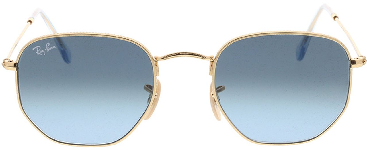 Picture of glasses model Ray-Ban Hexagonal Flat Lenses RB3548N 91233M 51-21 in angle 0