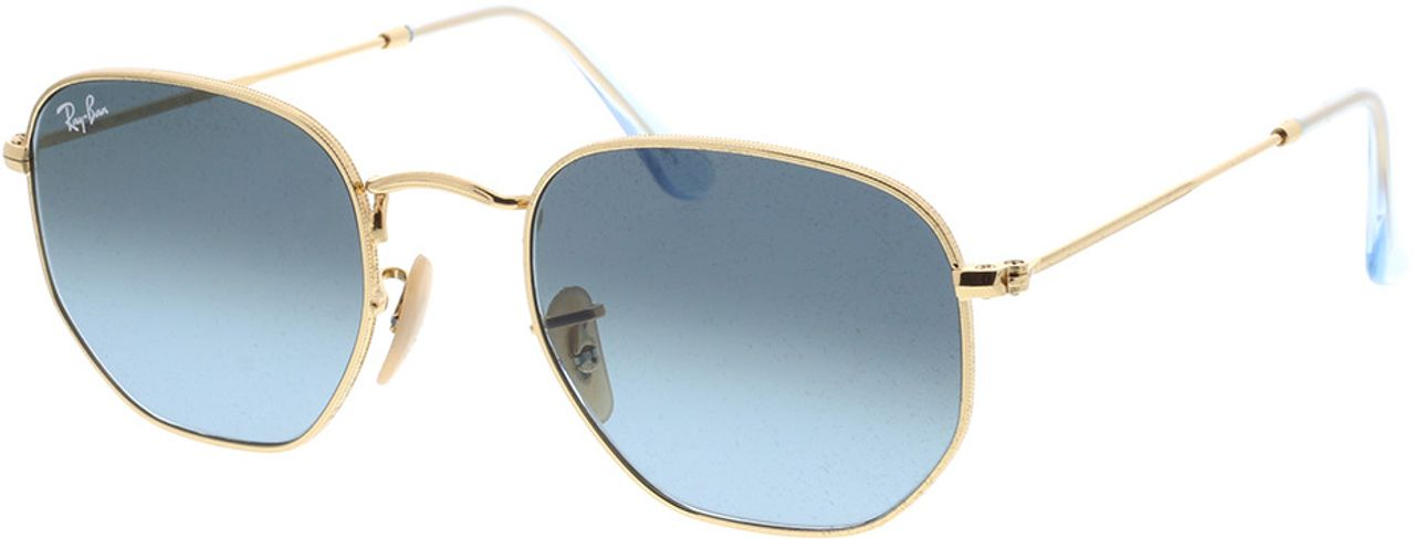 Picture of glasses model Ray-Ban Hexagonal Flat Lenses RB3548N 91233M 51-21 in angle 330