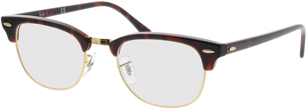 Picture of glasses model Ray-Ban Clubmaster RX5154 8058 51-21 in angle 330