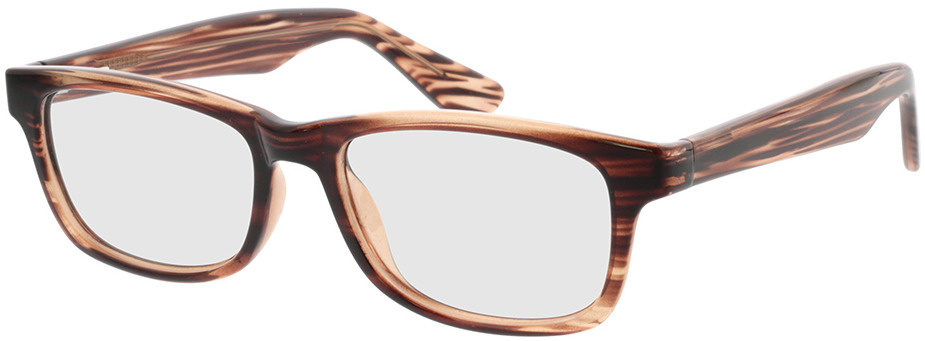 Picture of glasses model Dean Bruin horn in angle 330