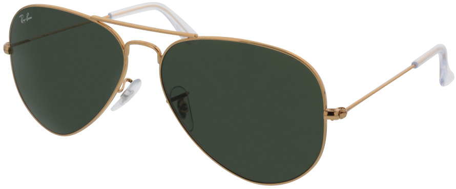 Picture of glasses model Ray-Ban Aviator RB3025 L0205 58-14 in angle 330