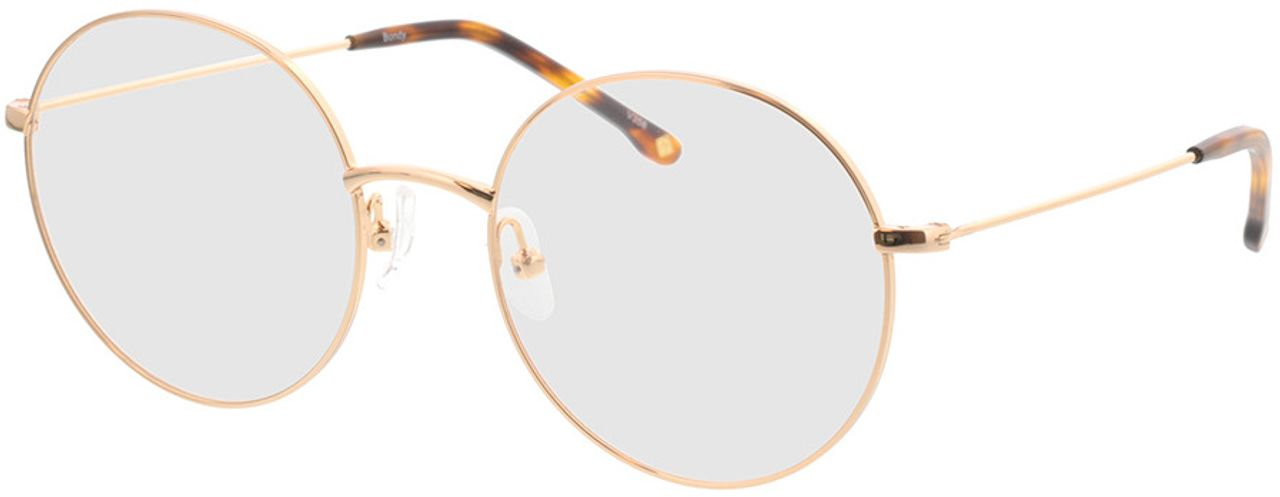 Picture of glasses model Bondy-gold in angle 330