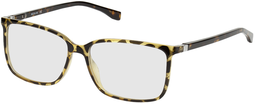 Picture of glasses model Montpellier-braun/gelb-marmoriert in angle 330