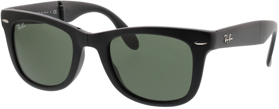 Picture of glasses model Ray-Ban Folding Wayfarer RB 4105 601S 50-22 in angle 330