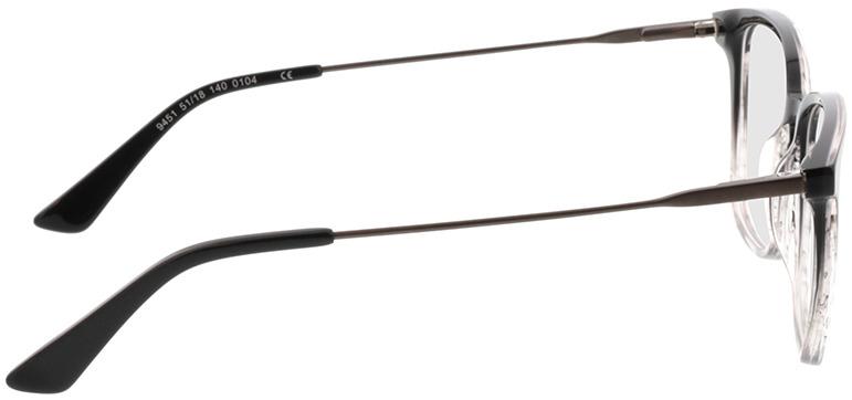 Picture of glasses model Lazio-schwarz/transparent/anthrazit in angle 90