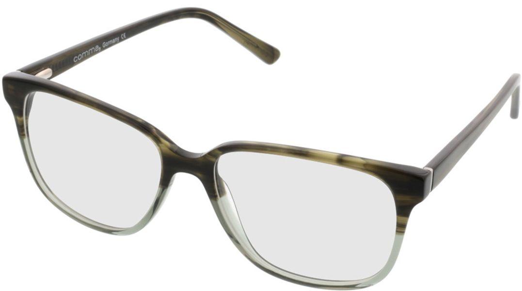 Picture of glasses model Comma, 70039 49 grün-grau 54-16 in angle 330