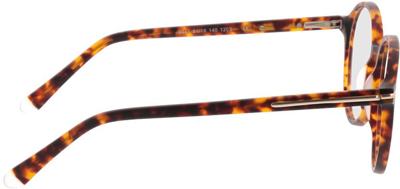 Picture of glasses model Borno-matt havana/matt gold in angle 90