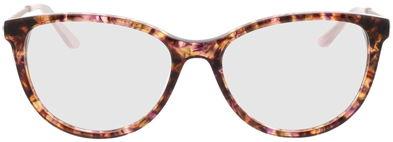 Picture of glasses model Flora-braun-meliert/silber in angle 0