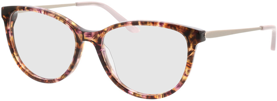 Picture of glasses model Flora-braun-meliert/silber in angle 330