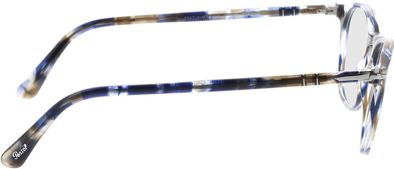 Picture of glasses model Persol PO3007VM 1126 50-19 in angle 90