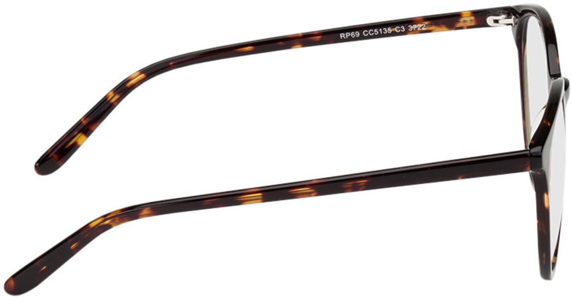 Picture of glasses model New York-braun-meliert in angle 90