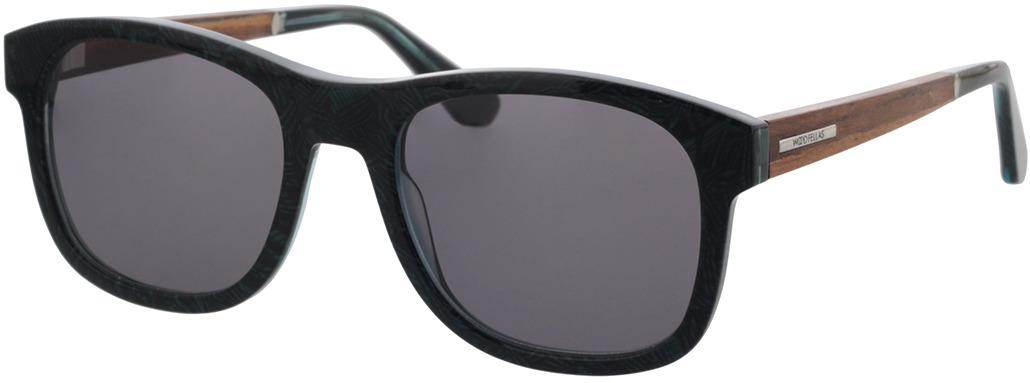 Picture of glasses model Wood Fellas Sunglasses Mirror macassar/blue 55-21 in angle 330