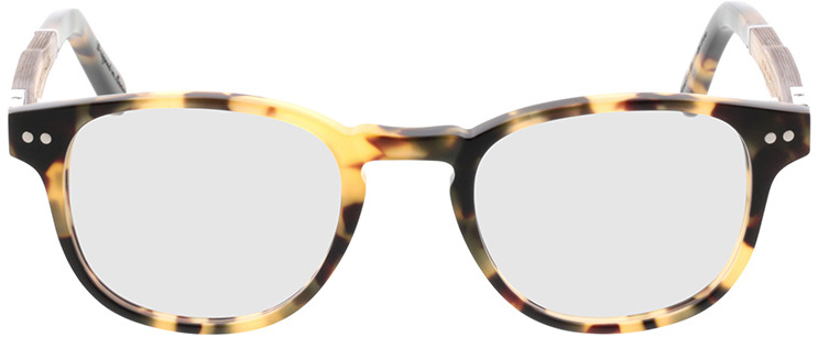 Picture of glasses model Wood Fellas Optical Bogenhausen Premium limba/havana 45-20 in angle 0