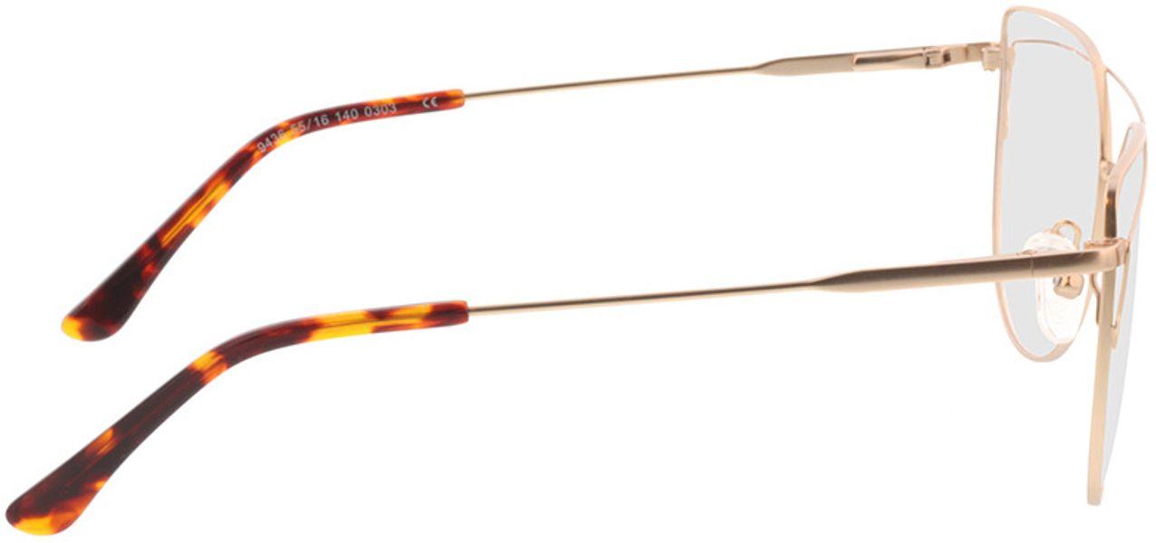 Picture of glasses model Calida-matt gold in angle 90