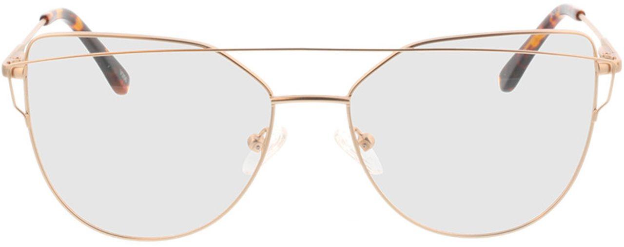 Picture of glasses model Calida-matt gold in angle 0