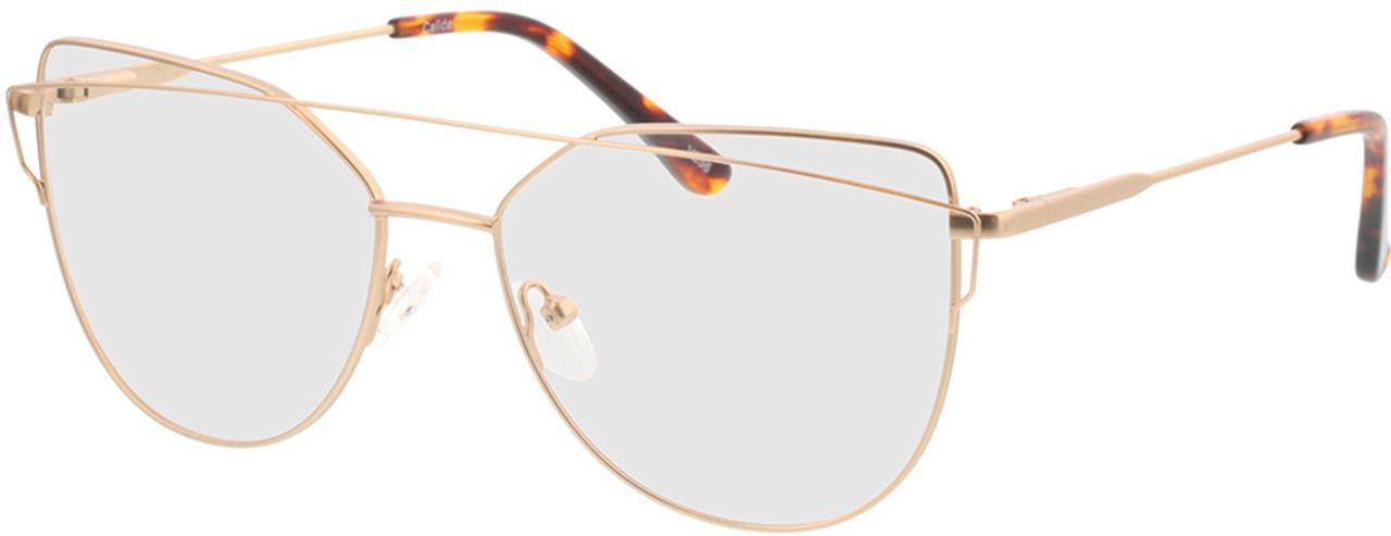 Picture of glasses model Calida-matt gold in angle 330