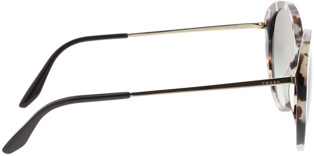 Picture of glasses model Prada PR 18XS UAO0A7 55-19 in angle 90
