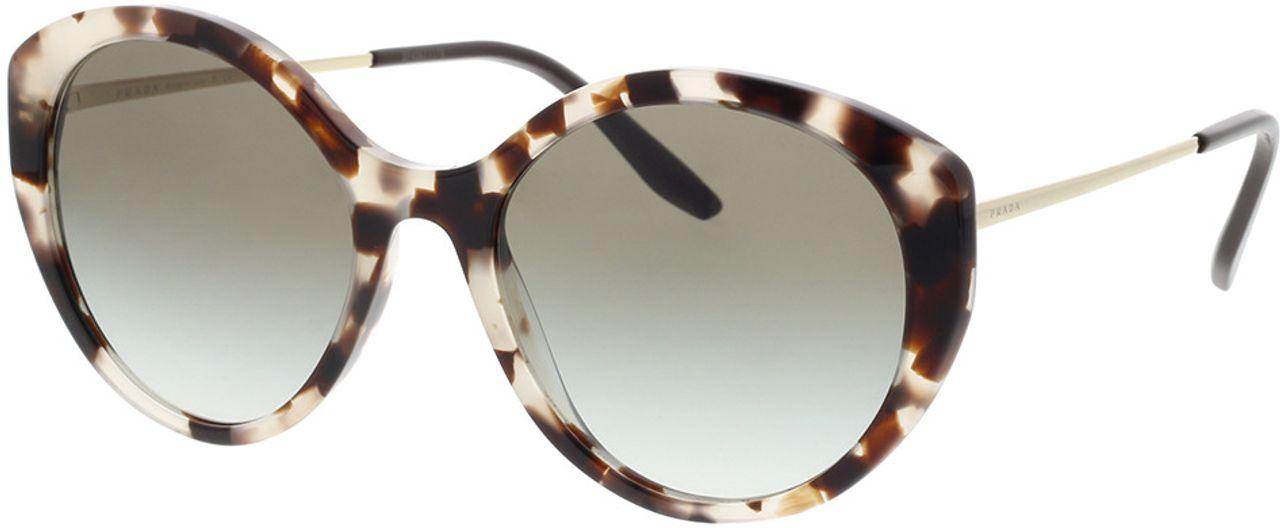 Picture of glasses model Prada PR 18XS UAO0A7 55-19 in angle 330