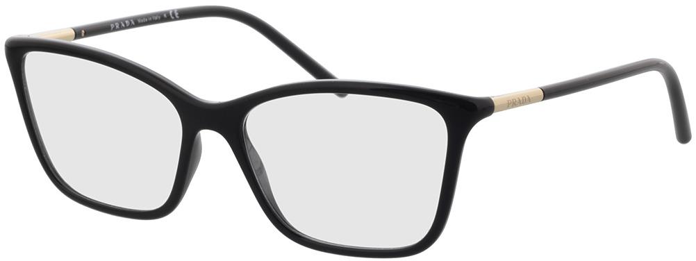 Picture of glasses model Prada PR 08WV 1AB1O1 55-16 in angle 330