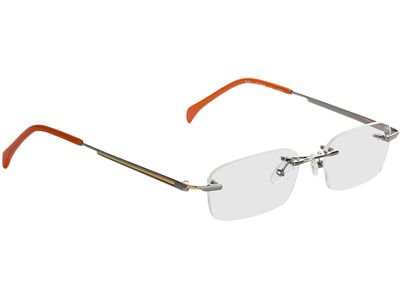 Brille Bellingham-silber/orange