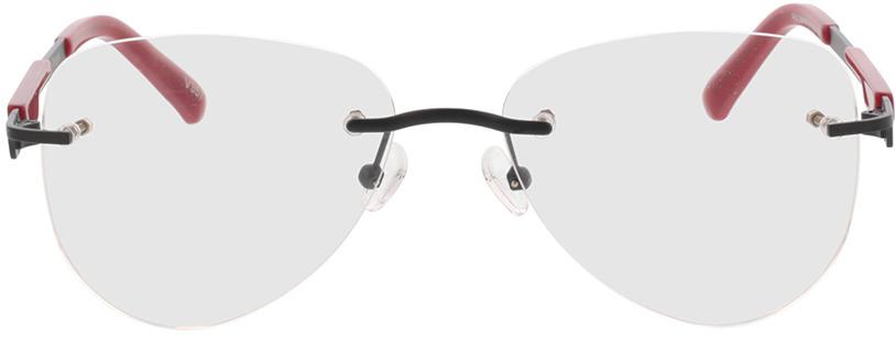 Picture of glasses model Tangari-matt schwarz/rot in angle 0
