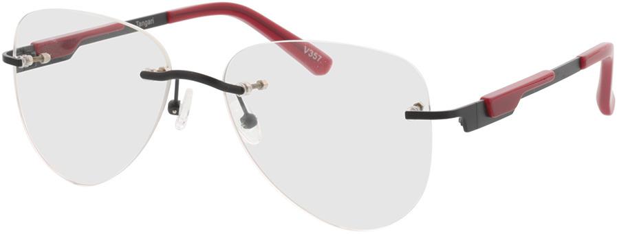 Picture of glasses model Tangari-matt schwarz/rot in angle 330