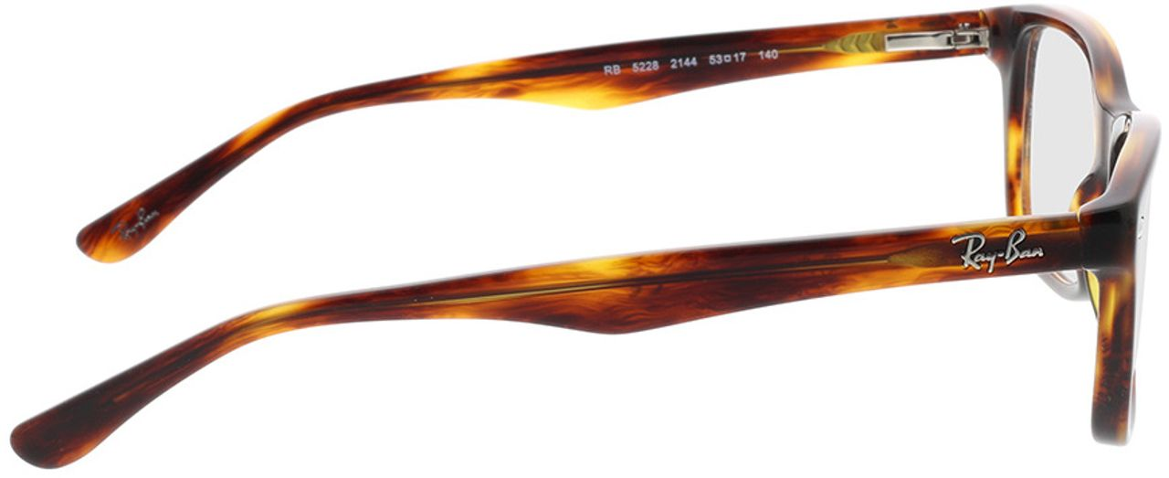 Picture of glasses model Ray-Ban RX5228 2144 53-17 in angle 90