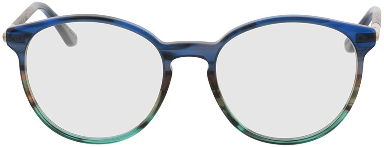 Picture of glasses model Wood Fellas Optical Halo walnut/blue 52-18 in angle 0