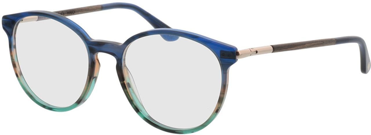 Picture of glasses model Wood Fellas Optical Halo walnut/blue 52-18 in angle 330