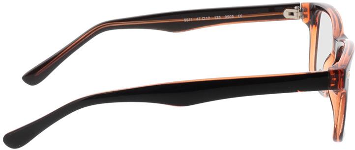Picture of glasses model Revo-castanho escuro/castanho-transparente in angle 90