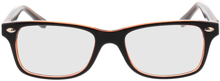 Picture of glasses model Revo-castanho escuro/castanho-transparente in angle 0