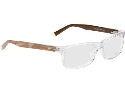 Brille San Diego-transparent-beige/braun