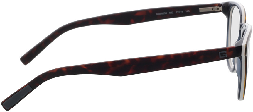Picture of glasses model Guess GU50033 052 51-19 in angle 90