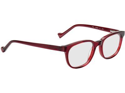 Brille Bellevue-rot-transparent