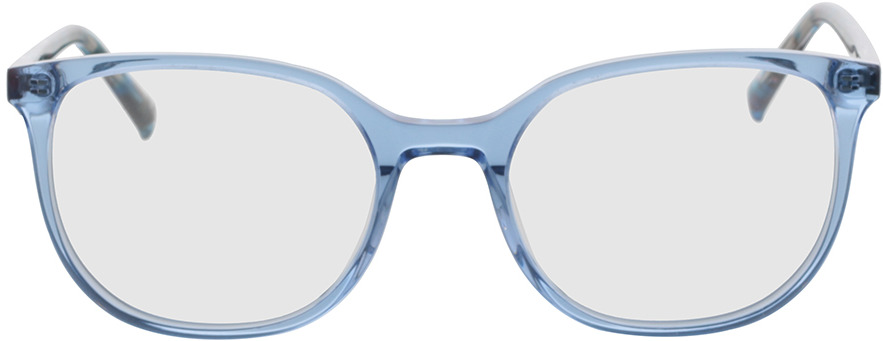 Picture of glasses model Colima-blau-transparent in angle 0