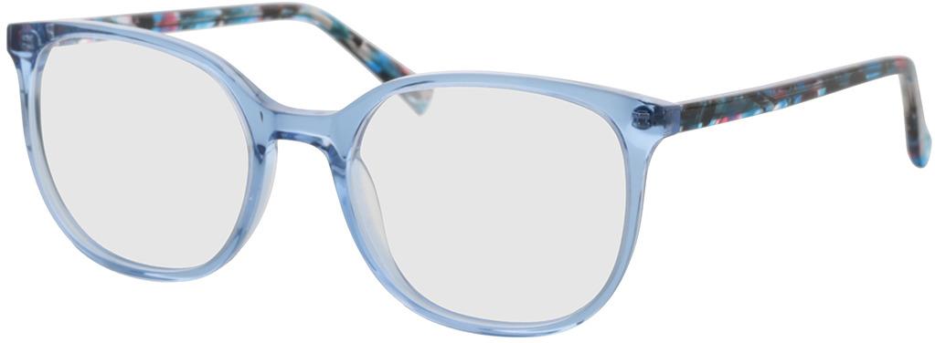 Picture of glasses model Colima-blau-transparent in angle 330