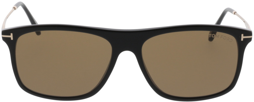 Picture of glasses model Tom Ford Max FT0588 01E  in angle 0