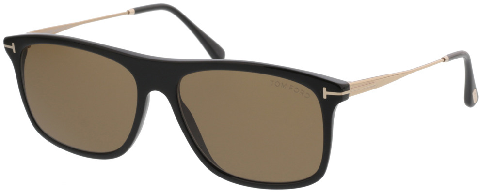 Picture of glasses model Tom Ford Max FT0588 01E  in angle 330
