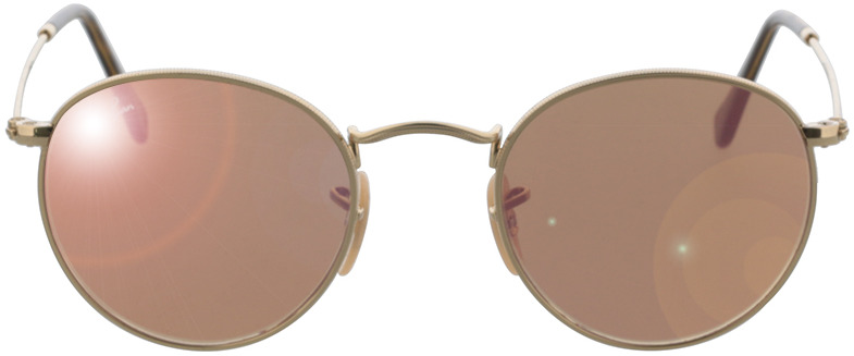 Picture of glasses model Ray-Ban Round Metal RB3447N 001/Z2 47-21 in angle 0
