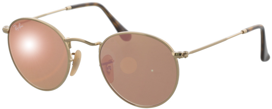 Picture of glasses model Ray-Ban Round Metal RB3447N 001/Z2 47-21 in angle 330