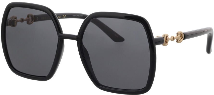 Picture of glasses model Gucci GG0890S-001 55-19 in angle 330