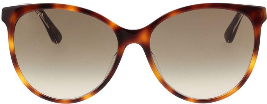 Picture of glasses model Gucci GG0377SK-003 57-16  in angle 0