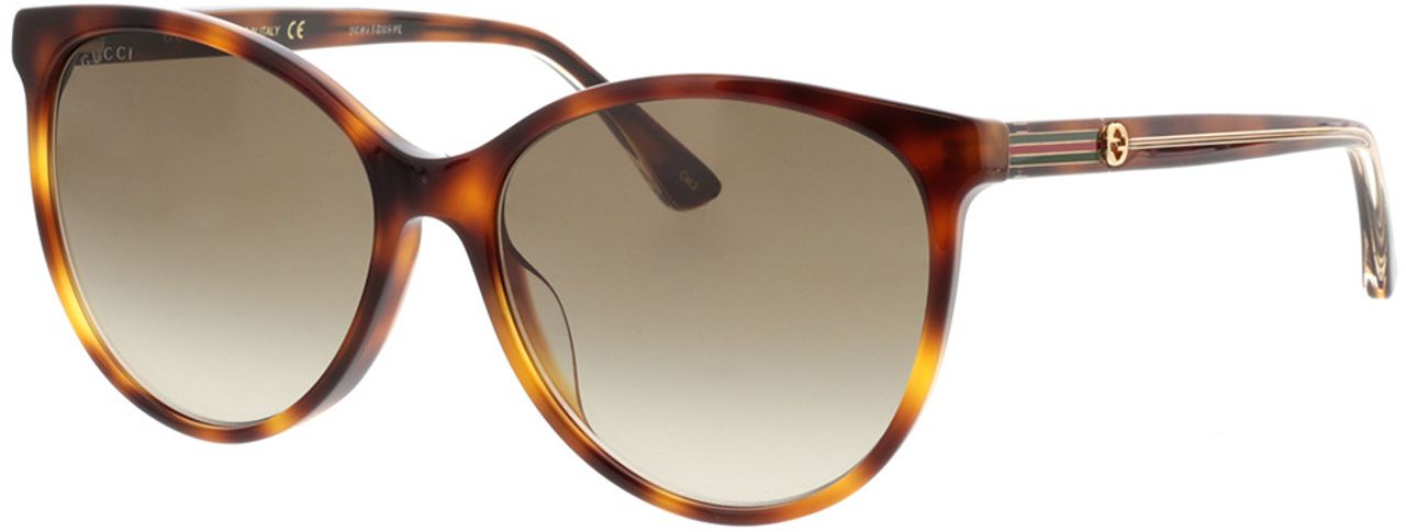 Picture of glasses model Gucci GG0377SK-003 57-16  in angle 330