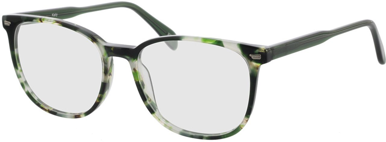 Picture of glasses model Katy-grün-meliert in angle 330
