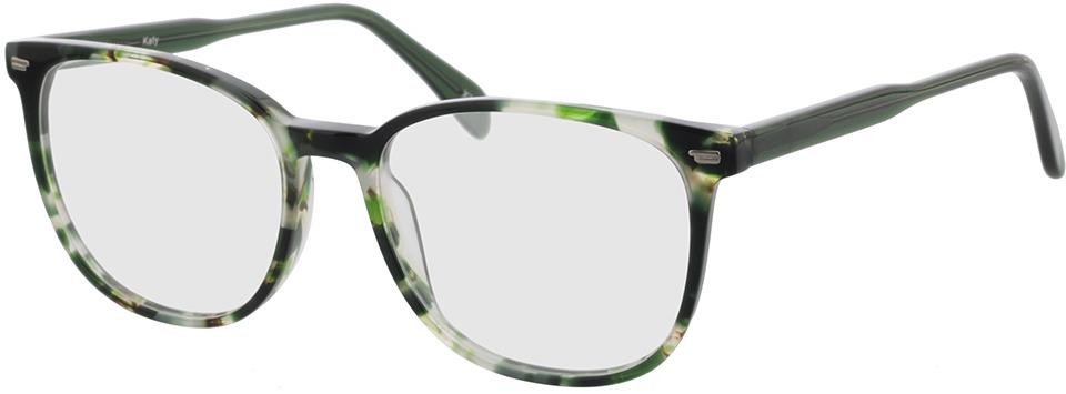 Picture of glasses model Katy groen-gevlekt in angle 330