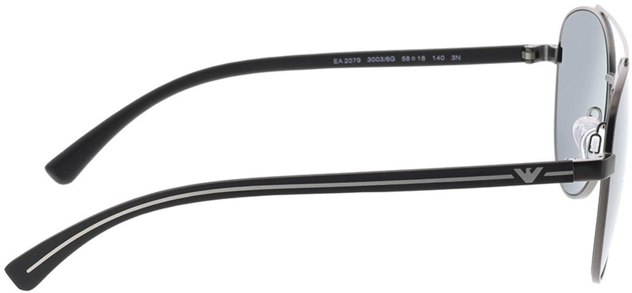 Picture of glasses model Emporio Armani EA2079 30036G 58-16 in angle 90