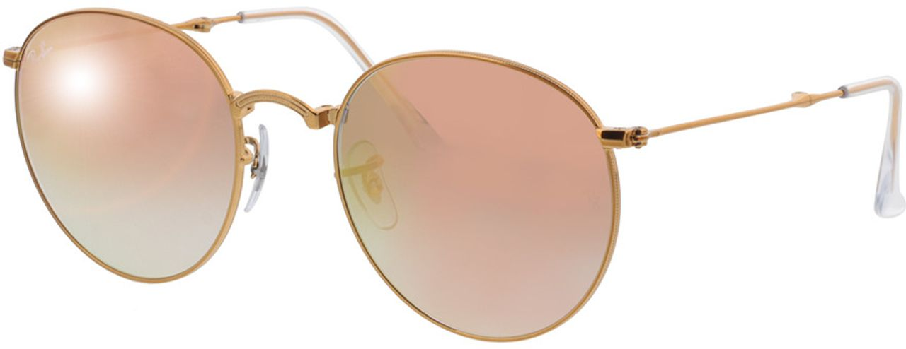 Picture of glasses model Ray-Ban Round Metal Folding RB3532 198/7Y 53-20 in angle 330